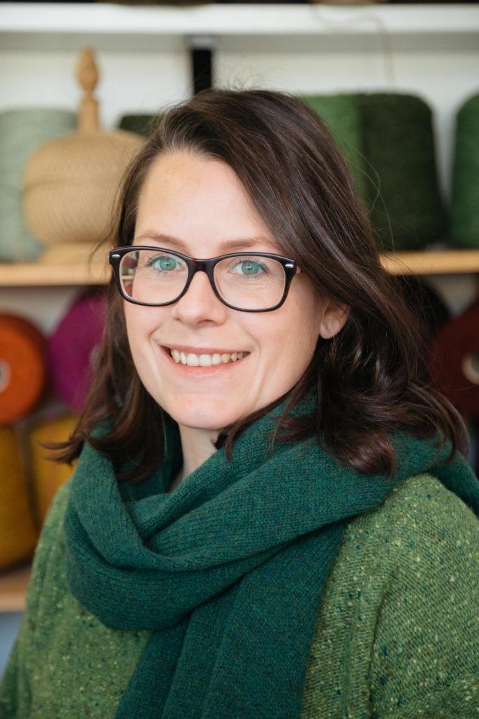 Liadain Aiken portrait ethical knitwear designer Irish