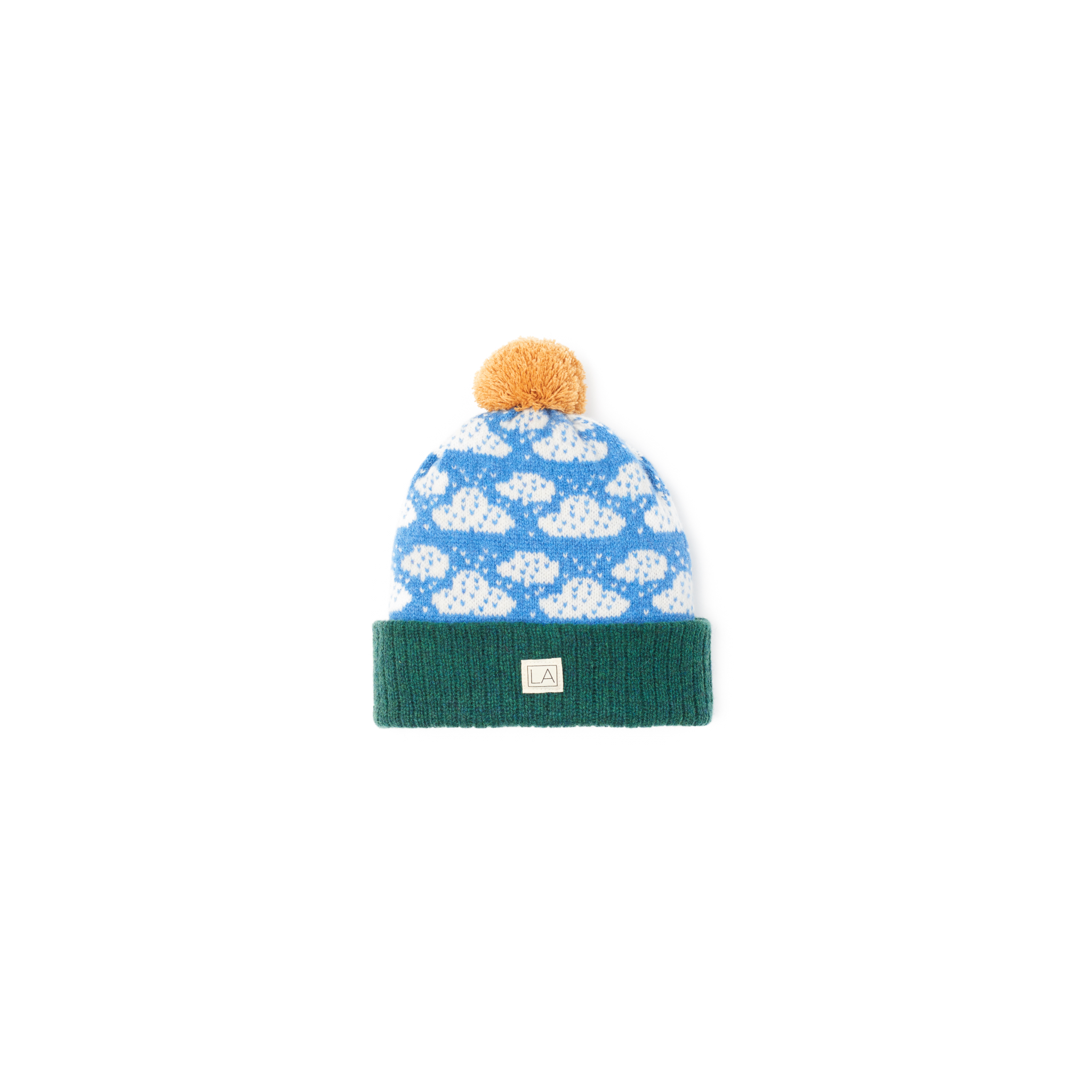 5fa7bc0a3fd Lambswool Classic Cloud Hat green grass blue white sunshine sustainably  ireland handmade ...