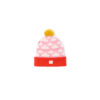 Hat Pink cloud fluffy pink red yellow bobble ethical irish knitwear