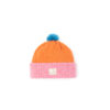 kids hat Pink Orange Blue Beanie Sustainable irish design handmade