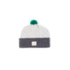 Grey Unisex baby hat wool soft slow fashion