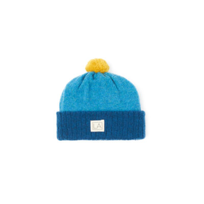 Blue Teal Childrens Hat Soft Lambswool