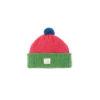 Kids wool hat green pink ethical wool ireland handmade