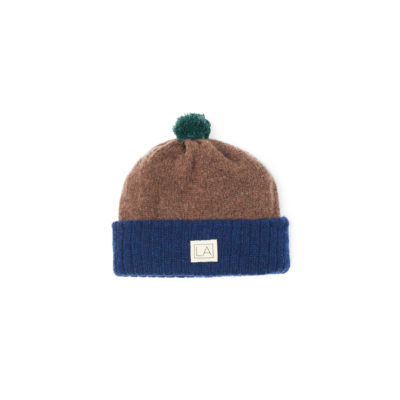 navy brown kids hat minime wool cute soft