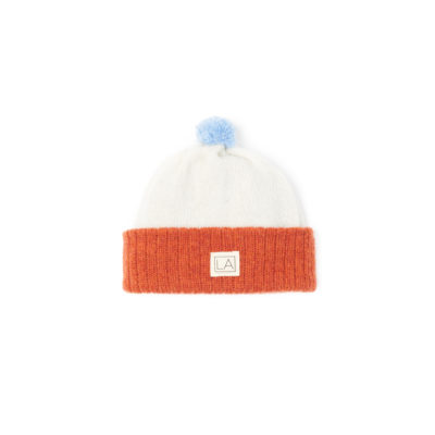 Orange Cream Kids Hat Lambswool Ecobaby ethical irish design
