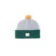Grey green kiddys wool hat ecobaby sustainable irish design