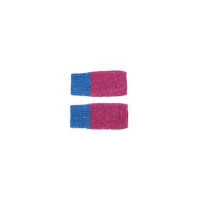 mittens flecked wool blue purple slow fashion irish design unisex handmade
