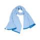 Large lambswool scarf made in Ireland Blue Skies Sea