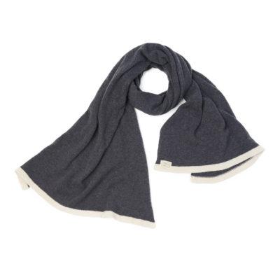 grey dark grey cream large shawl sustainable ethical ireland wild land wild Atlantic way