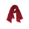 Wine Burgandy Scarf Deep Red Lambswool Ethical Slow Fashion