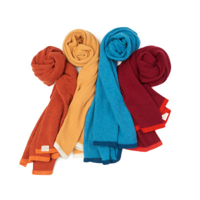 Made in Ireland Soft cosy lambswool scarves