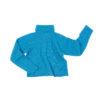 funnel neck blue wool irish design unisex sustainable
