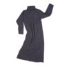 turtleneck dress blue long scottish lambswool handmade