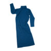 maxi wool dress ethical women blue irish knitwear