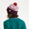 wool beanie hat plum pink heather orange made in ireland ethical slow fashion