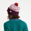 wool beanie hat plum pink heather orange made in ireland ethical slow fashion