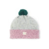 Beanie grey pink green bobble ethical irish design handmade unisex