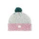 Beanie grey pink green bobble ethical irish design handmade unisex