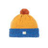 bright blue bright yellow bright orange beanie lambswool cosy unisex ethical irish design handmade