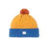 bright blue bright yellow bright orange beanie lambswool cosy unisex ethical irish design handmade