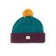 Irish yarn flecked wool bobble beanie plum kingfisher green bright yellow ethical irish knitwear
