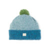 Cosy lambswool deep teal mid green blue moss green beanie unisex irish knitwear handcrafted ethical