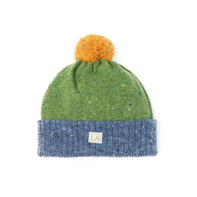 lambswool hat moss green sea blue mustard ethical made in ireland cosy unisex