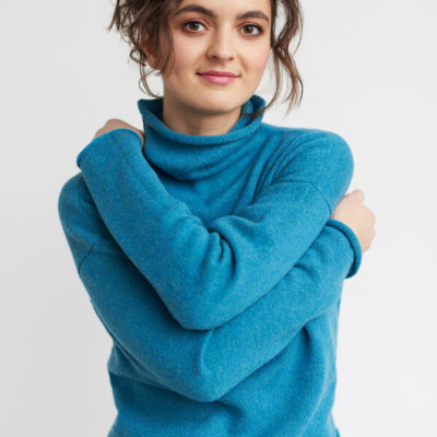 barracuda soft wool cropped jumper ethical women
