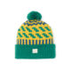 zig zag grove green bright yellow neptune beanie bobble ethical unisex irish knitwear handmade