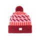 zig zag radish soft pink red bobble sustainable unisex irish design handcrafted