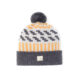 Stripey Liadain Aiken Beanie Grey Yellow