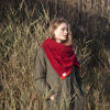 burgundy wine shawl scarf wrap ethical sustainable wool irish