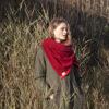 burgundy wine shawl scarf wrap ethical sustainable wool irish