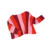 lambswool jumper soft stripes pink red wine handmade irish design