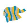 eco fashion wool top stripes cropped