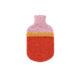 hot water bottle covers pink red orange merino flecked bespoke irish design handcrafted