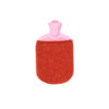 hot water bottle covers pink red rubber merino flecked bespoke irish knitwear handcrafted