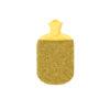 hot water bottle cover merino flecked yellow green sustainable irish design