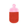 hot water bottle covers pink red rubber merino flecked ethical irish knitwear handmade