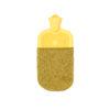 hot water bottle cover merino flecked yellow greenethical sustainable irish
